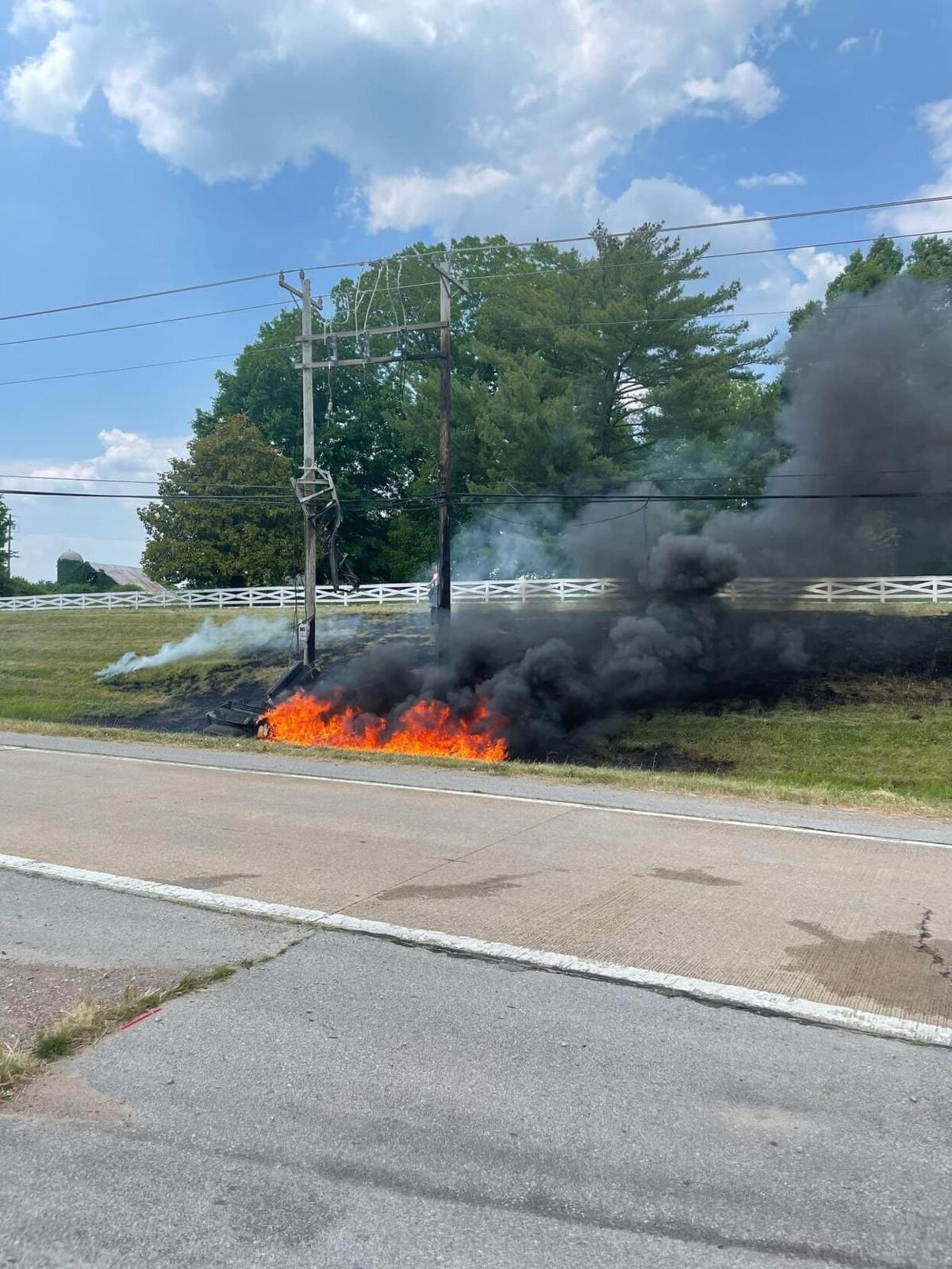 fire blown transformer