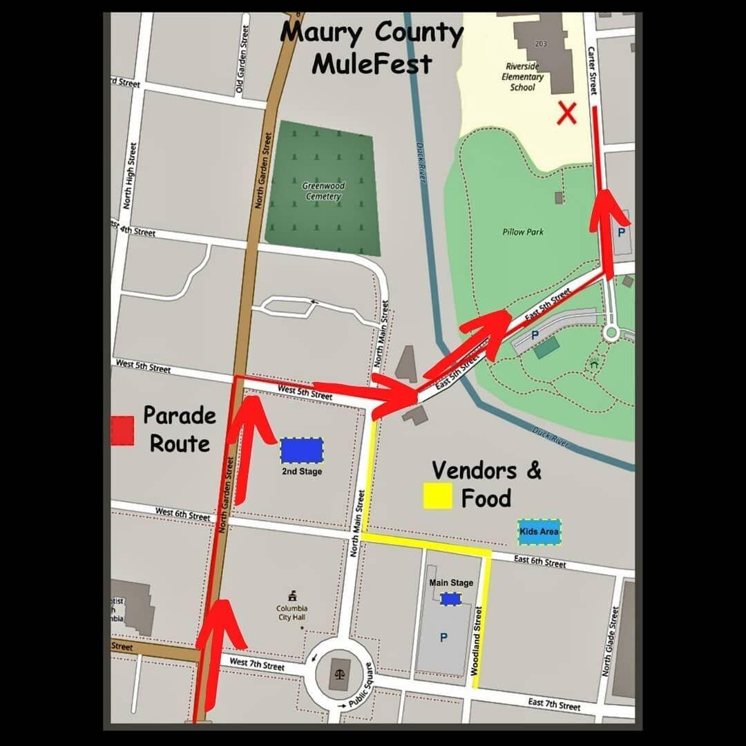 MuleFest parade route.jpg