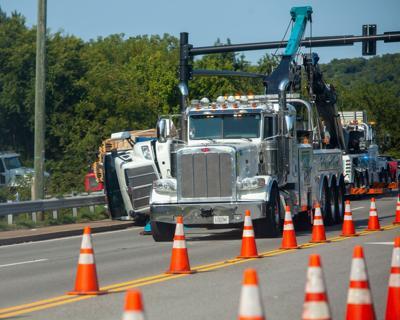 Brentwood overturned truck 09102021