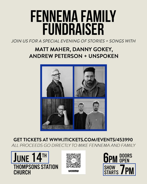 Fennema benefit concert flyer