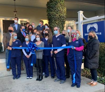 Downtown Franklin Family Dentistry Ribbon Cutting 2021