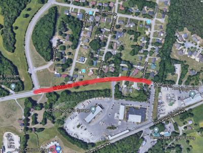Franklin Map gas Line break 3/23/20