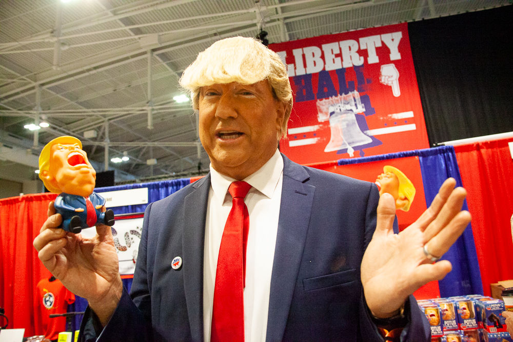 President Donald Trump impersonator Politicon