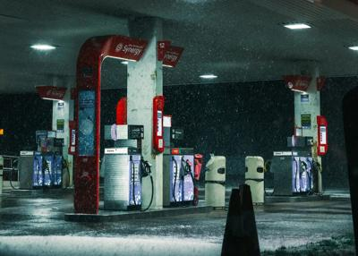 gas pump snow