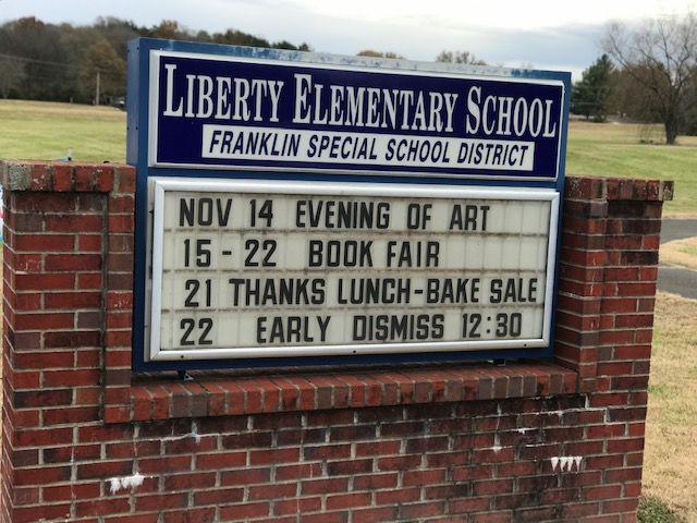Liberty Elementary sign