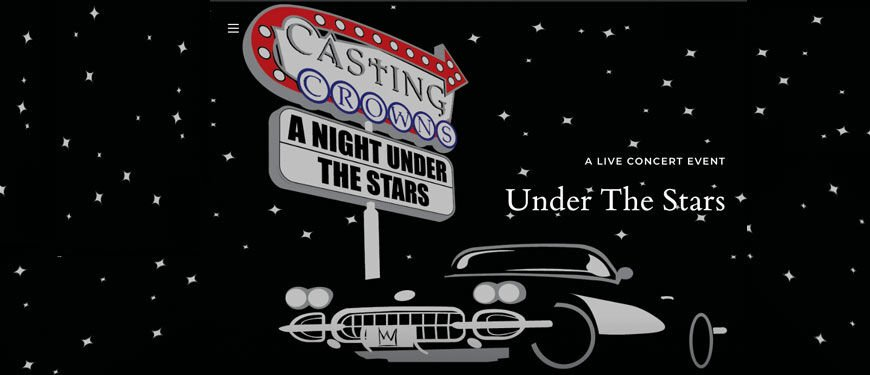 A promotional flier for the Night Under the Stars concert