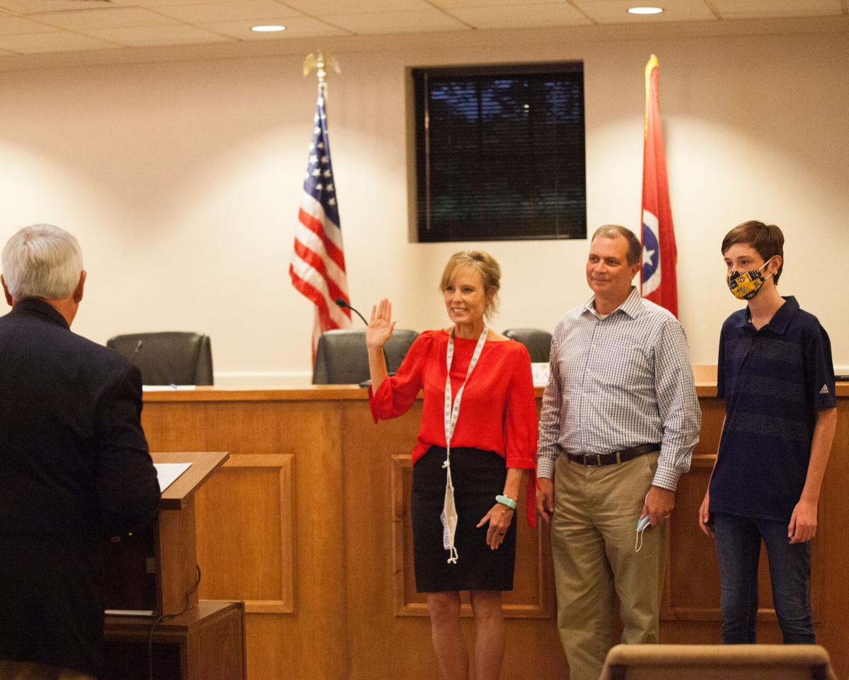 Wendy Cook-Mucci Nolensville Town Commissioner swearing in 2020