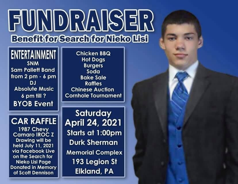 Search for Nieko Lisi fundraiser