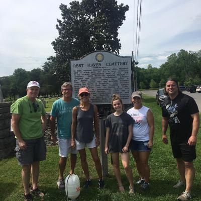 Rotary Club at cemetery