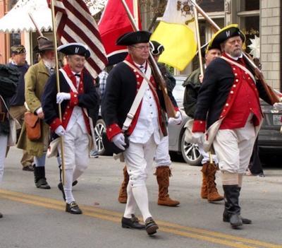 Veterans parade marchers