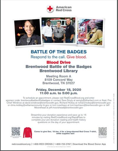 Battle of the Badges Blood Drive 2020 Winter