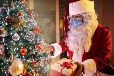Santa Claus at corona virus time