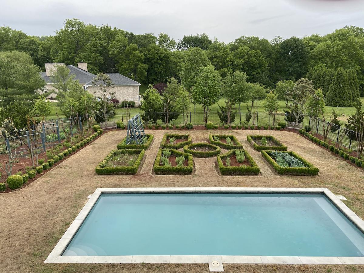 Brackett garden and pool