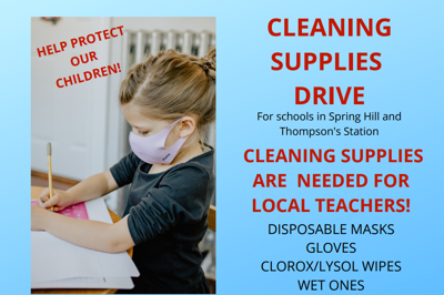 Cleaning Supply Drive