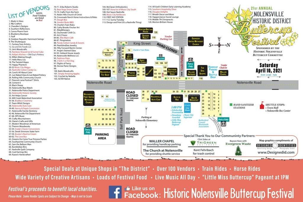 Buttercup Festival map 2021