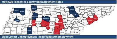 May County Unemployment Map