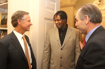 Haslam with McKinney and Pody