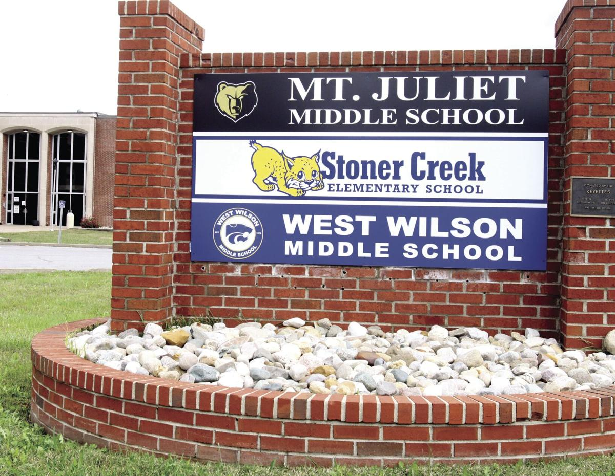 Middle school sign