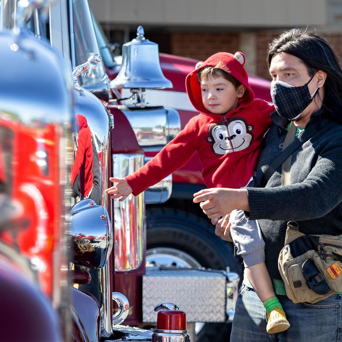 Fire trucks a major draw for Bloom attendees