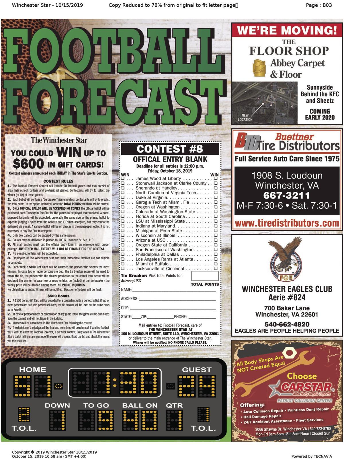 Football Forecast 10-15