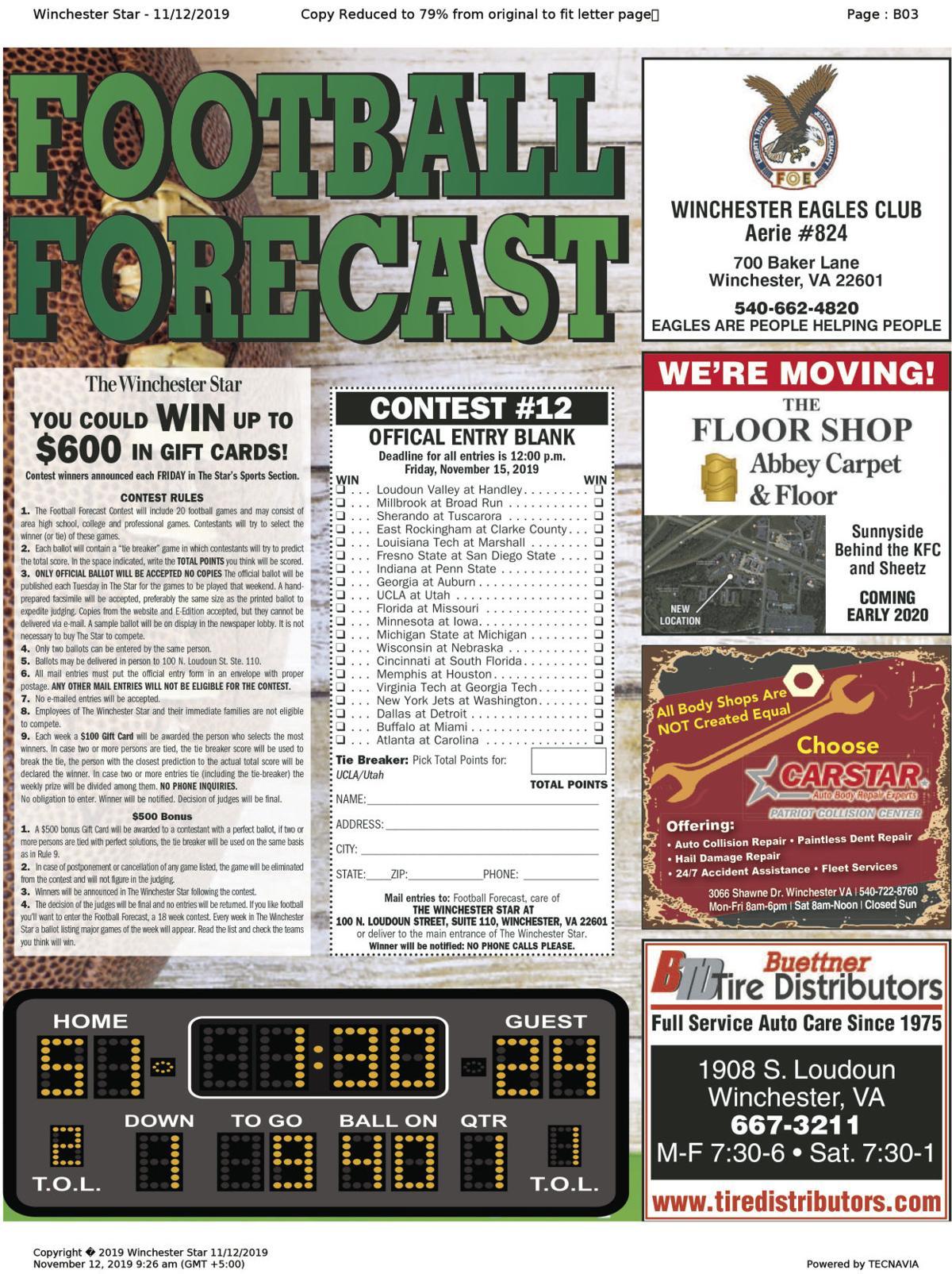 11-12 Football Forecast