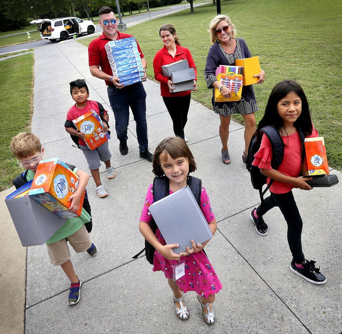 School supplies special delivery