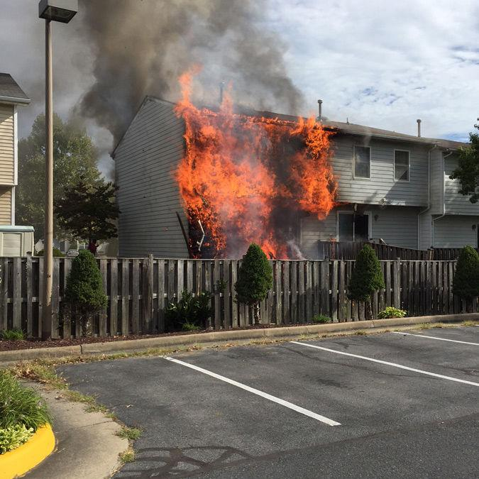 City Fire Damages Townhouses