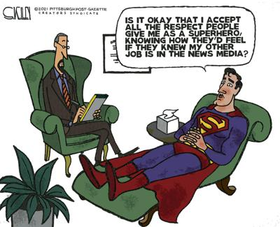 Cartoon: Superman on the couch