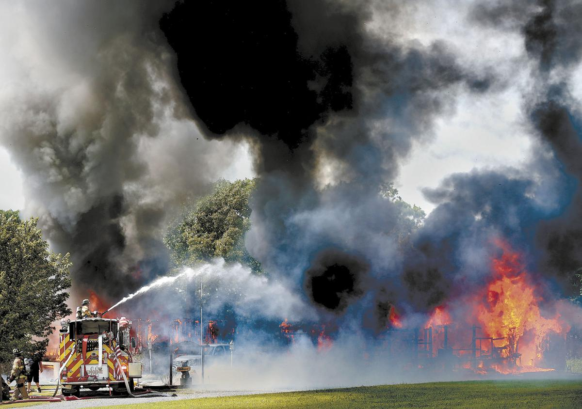 Fire Destroys Frederick Home And Detached Garage News Basic Wiring To The Journal Board Demolishes