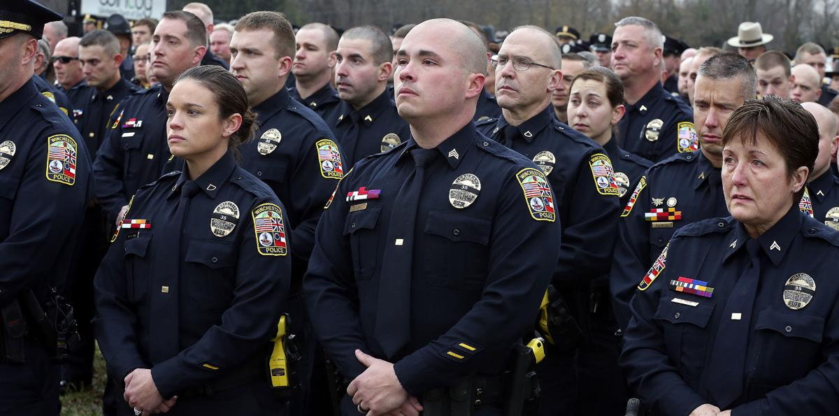fallen winchester police officer tearfully recalled at funeral