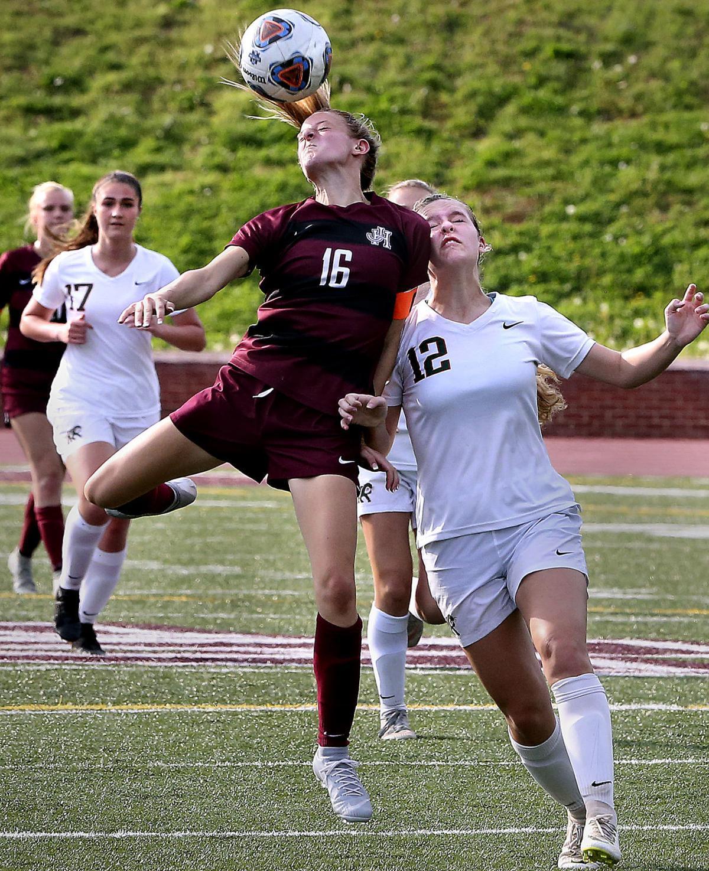 Handley girls' soccer Ricci front