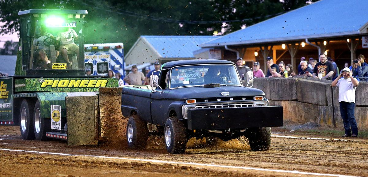Frederick County Fair: Truck, tractor pulling a family