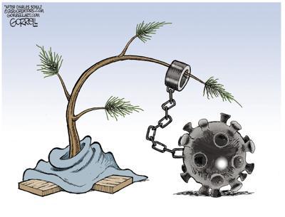 Cartoon: 2020 Charlie Brown Christmas tree