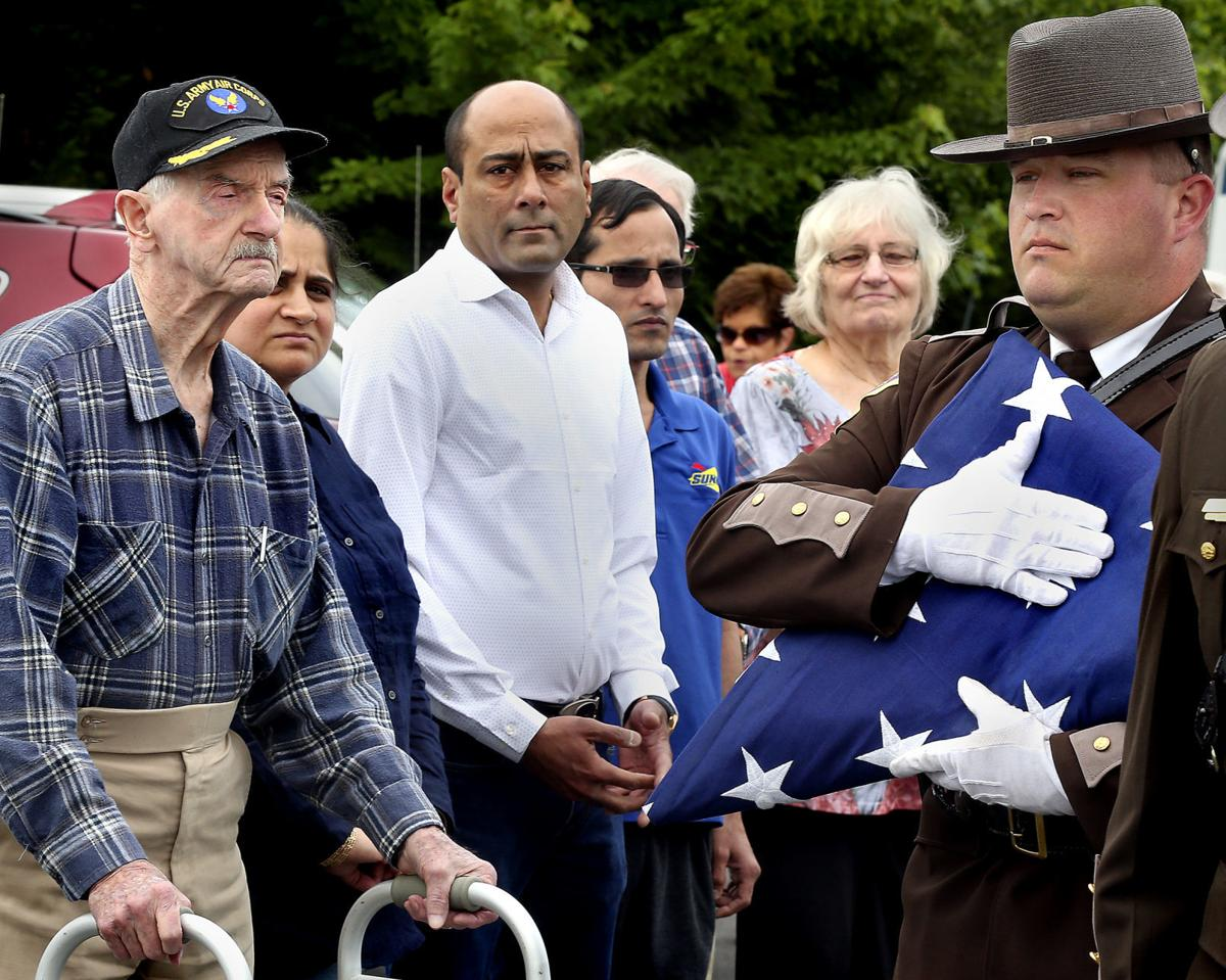 Watching World War Ii Vets Welcomed To >> Nudge From Wwii Vet Gets New American Flag Flying At Business