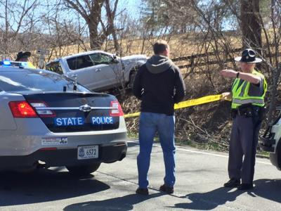 State police: Man found dead in crashed vehicle