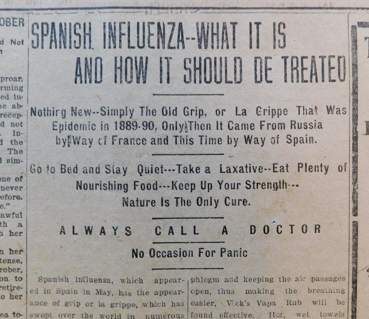 Reporting On A Pandemic Comparing Coverage Of Covid 19 And The Spanish Flu Coronavirus Winchesterstar Com