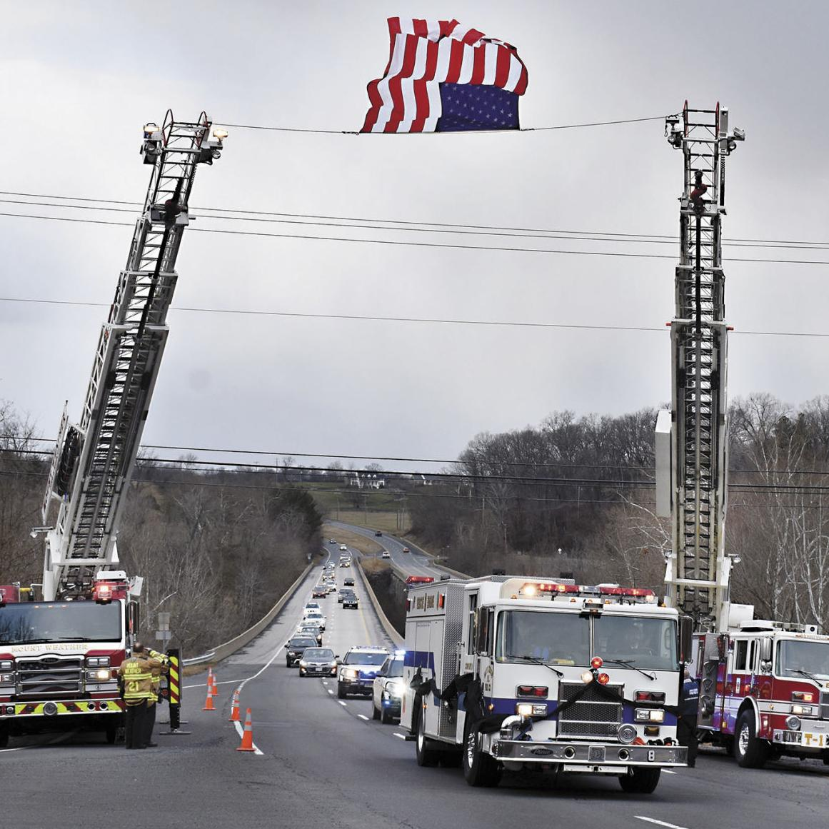 Firefighters memorialize one of their own