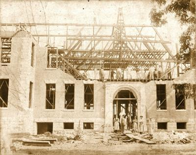 Past construction of building