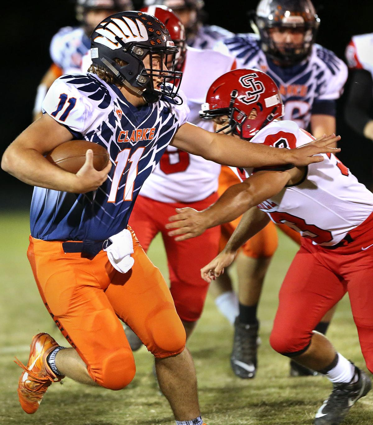 Clarke Football for schedule story