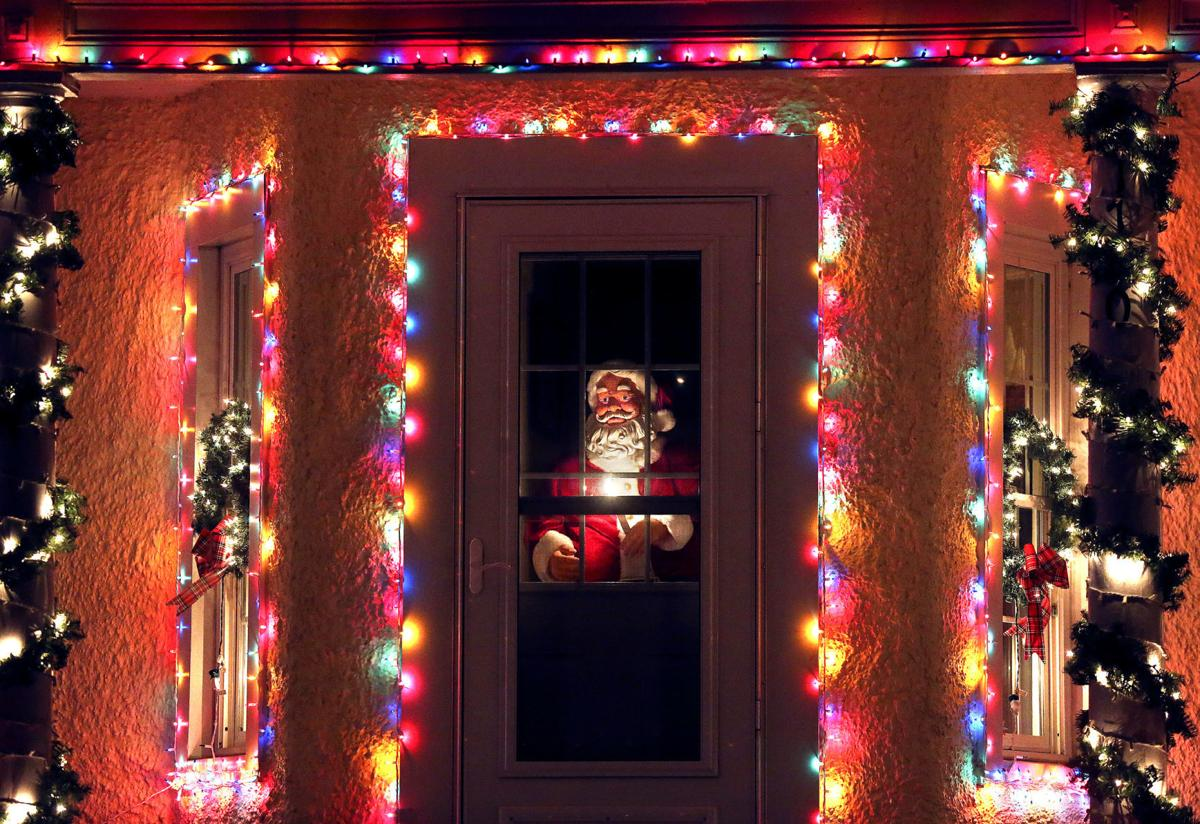 Frederick County Farmhouse Bathed In Christmas Light Glow