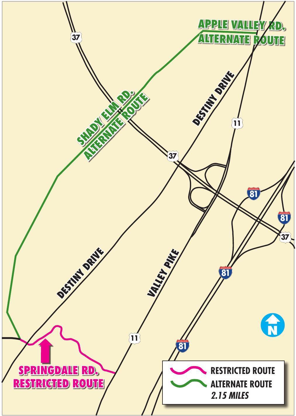 Springdale Road Map winchesterstarcom