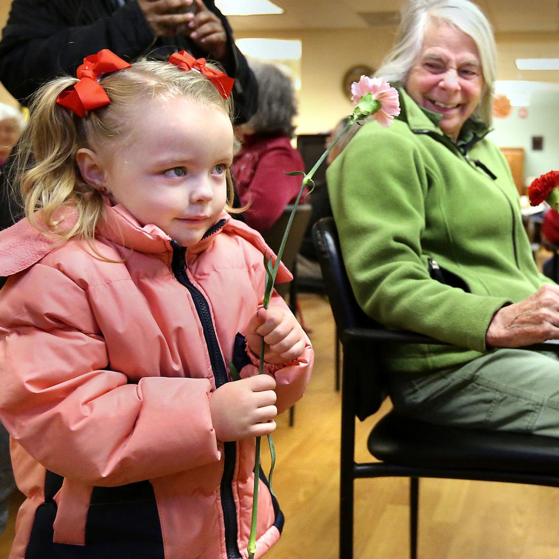 Gift of joy delivered to seniors on Valentine's Day