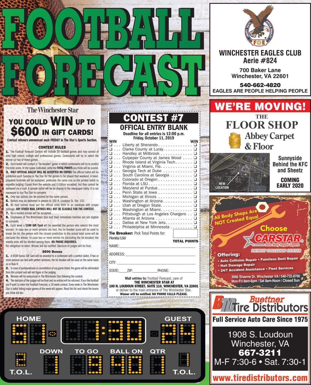 Football Forecast 10-08