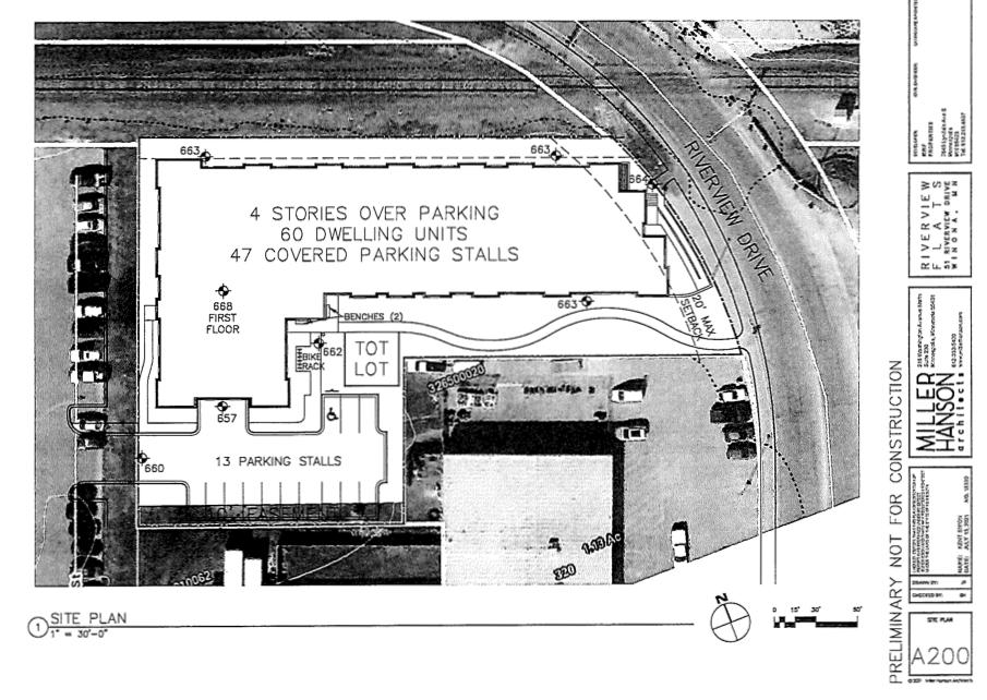 51 Riverview site plan map