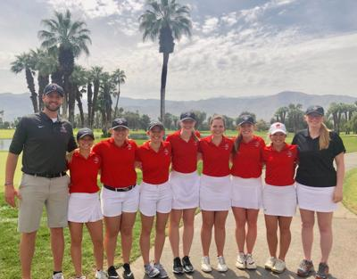 UW-River Falls women's golf | California team photo