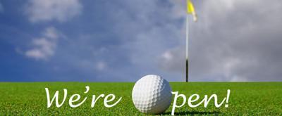 Golf Course Open Sign