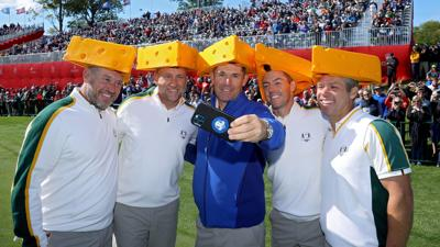 European cheeseheads at Whistling Straits