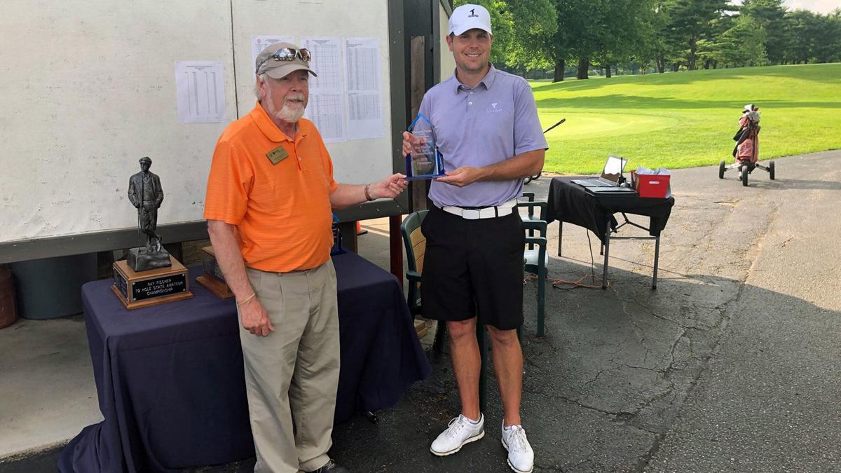 Joe Weber with Fischer trophy