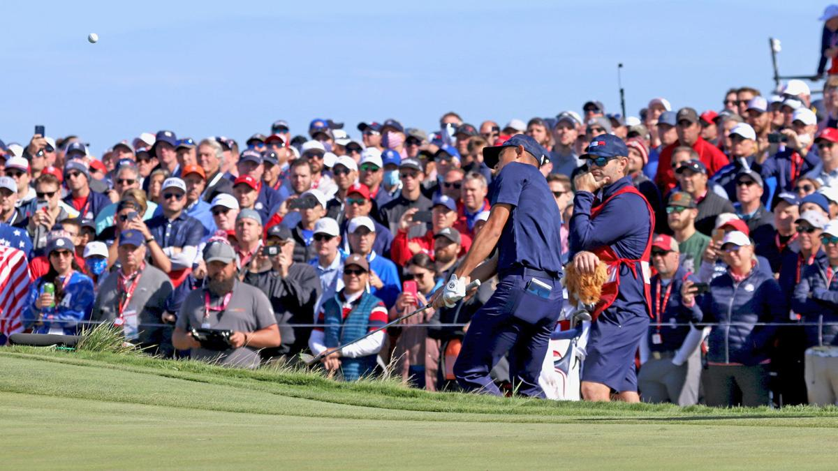 Ryder Cup   Saturday morning   Collin Morikawa and crowd