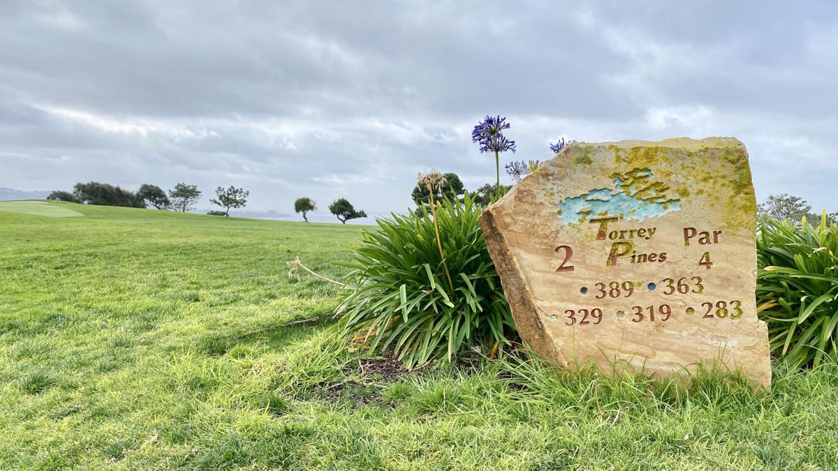 2020 Farmers Insurance Open | Tee sign